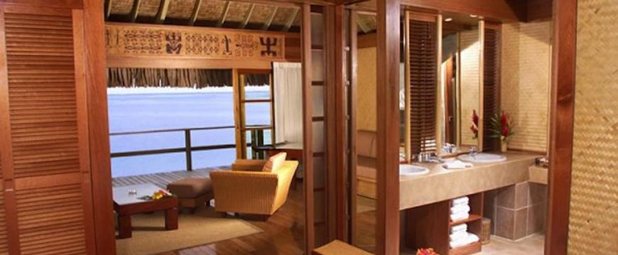 wood panelling interior for beach cabana