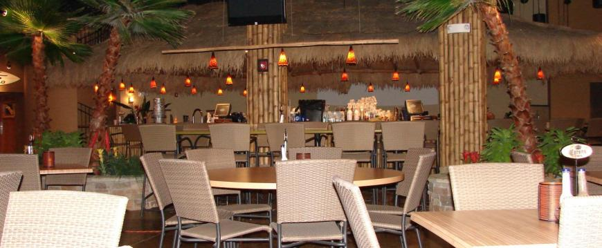 Restaurant Seating and Bar