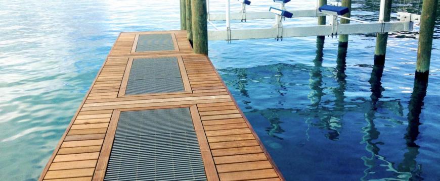 Custom Ipe Decking Boat Dock