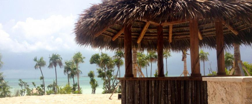 tiki bar palapa thatched tropical bar