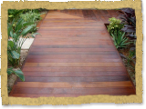 ipe decking walkway