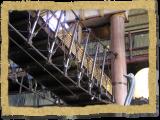 suspension bridge railing african themed