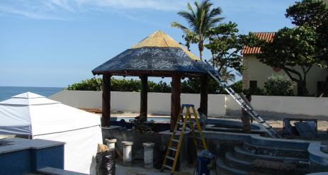 Tiki Pool Bar Stage 27