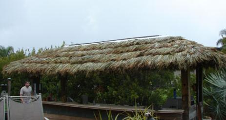 Tiki Hut Re-Thatch Project Stage 28