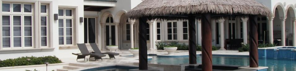 Tiki Hut Palapa Synthetic Thatch Pool Bar