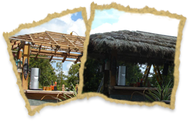 Tiki Hut Re-Thatch Timelapse